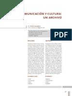 Revista Comunicación y Cultura