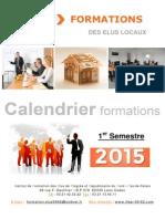 Calendrier Des Formations 2015 1er Semestre