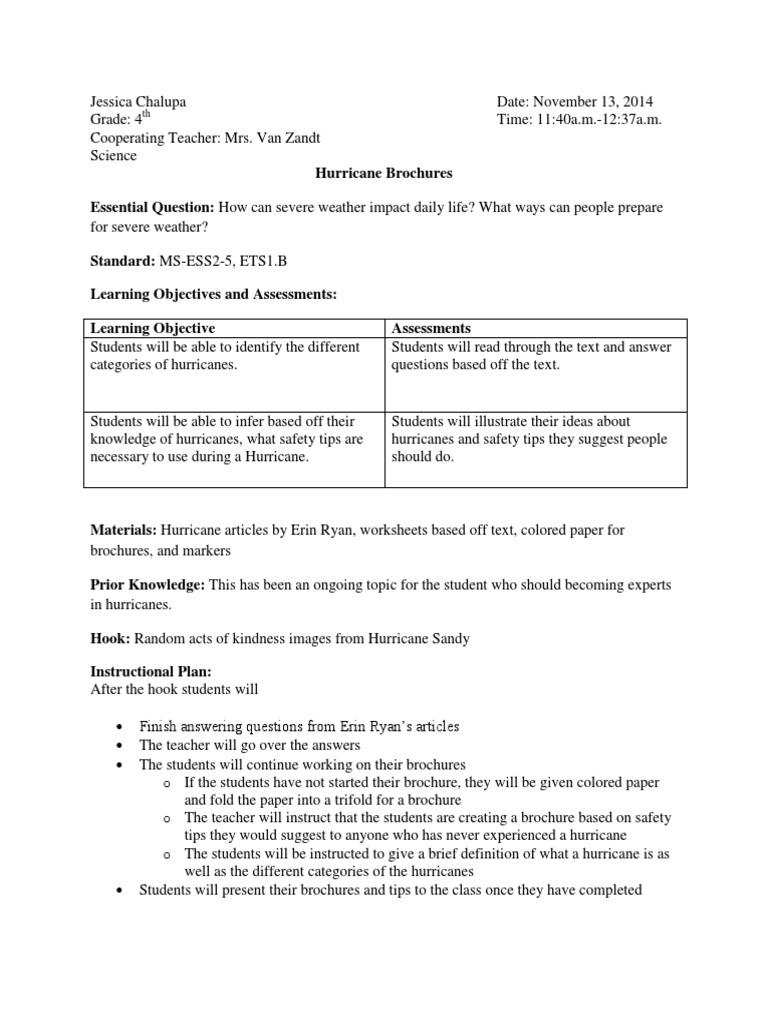 Uncategorized Hurricane Worksheets hurricane brochure educational assessment quality of life