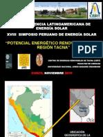Potencial Energetico Renovable en La Region Tacna