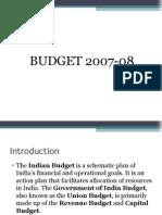 Budget 2007-08