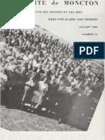 Bulletin - Anciens et Amis de l'Université de Moncton - juillet 1965
