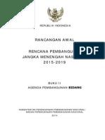 Rancangan Awal Rencana Pembangunan Jangka Menengah Nasional (RPJMN) 2015-2019 Buku Kedua Agenda Pembangunan Bidang