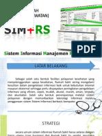 Sistem Informasi Manejemen Rumah Sakit.