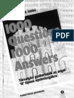 1000 kérdés 1000 válasz angol