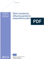 WHO Flu Pandemic Check List
