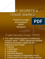 Trade secrets and trade marks