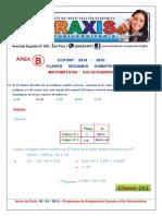 Area B - Matematicas - Solucionario