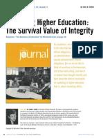 EJ992727.pdf Marketing Higher Education The Survival Value of Integrity.pdf