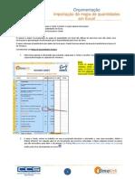 Candy Nota Técnica 01 Importar Mapa de Quantidades Em Ficheiro Excel
