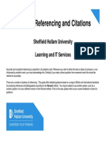 Guide to Referencing and Citations