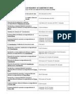 Calendario Académico 2015 Versión Cuadro