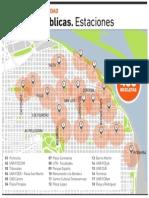 Estaciones de bicicletas públicas
