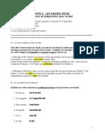 U3 - corriger révision préparation test grammaire