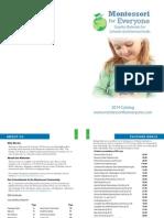 Montessori for Everyone Catalog