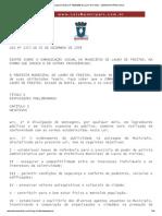 Lei 1323 - Publicidade Lauro de Freitas