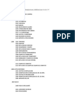 Catálogo de Cuentas Archeus