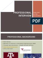 professional interview powerpoint