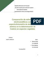 Comparación de métodos electroanaliticos con espectrofotometría de absorción atómica en la determinación de Cd.docx