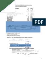 Diseño Puente plantilla en Excel