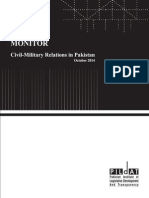 Monitor on Civil Military Relationsin Pakistan October 2014