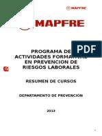 Programa de Actividades Formativas 2014 - Sctr