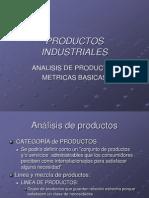 Analisis de Productos Industriales Metricas