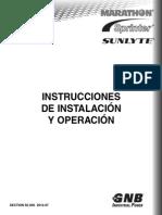 Section 92_30S 2012-07 Marathon, Sprinter, SUNlyte I&O Manual in Spanish