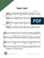El Lago de Los Cisnes 4 Manos (Fácil)