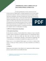 Pasos Para Mejorar El Clima Laboral en Las Organizaciones Públicas Peruanas