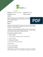 Programa Da Disciplina Da Graduação - Filosofia Ciência e Tecnologia