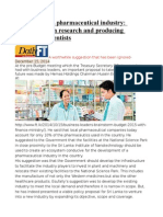 Developing SL Pharmaceutical Industry Concentrate on Research and Producing Biomedical Scientists
