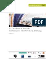 2014 Fashion Brands Sustainable Procurement Survey