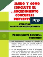 Cuando y Como Concluye El Procedimiento Concursal Preventivo 2003