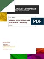 Exam 70-642 Windows Server 2008 Network Infrastructure, Configuring