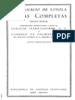 San Ignacio de Loyola - Obras Completas