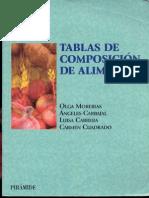 Tablas de Composicion de Alimentos (Ciencia Y Tecnica) Olga Moreiras (Ediciones Piramide)