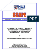 Cooperation in Environmental agreements