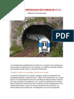 Trabajos de Perforacion Para Tuneles de 15