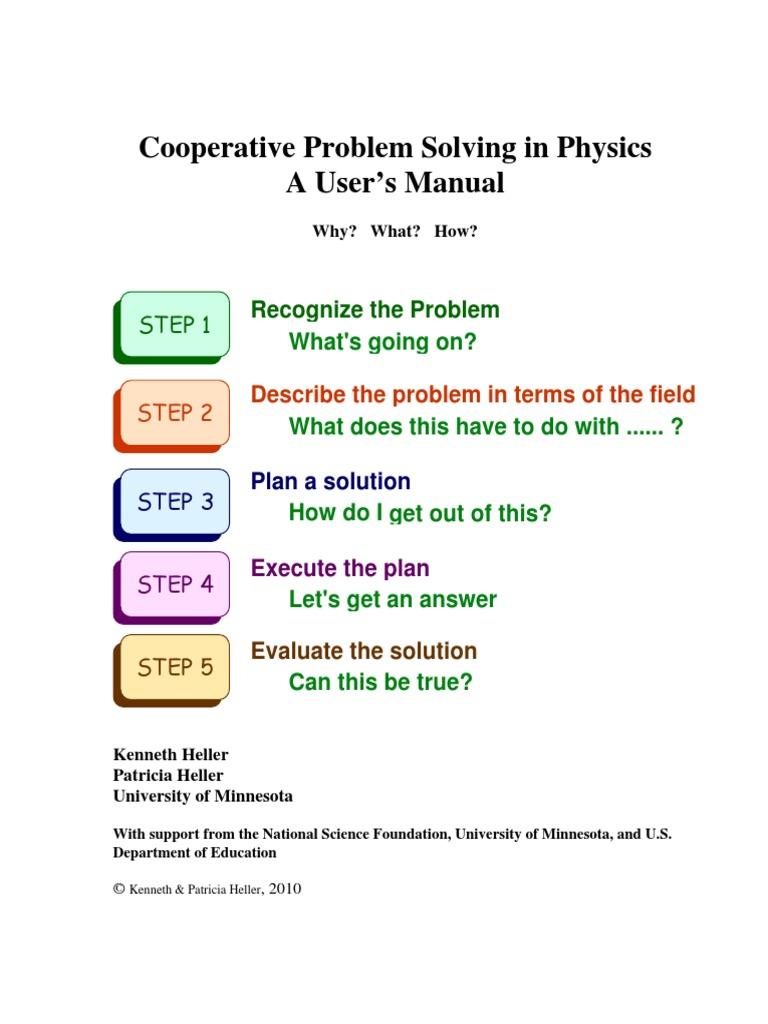 Coop Problem Solving Guide | Expert | Physics & Mathematics