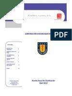 UDEC - Reseña Anual de Clasificación - Abril 2014