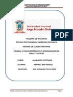 Informe Nº 02 de Maquinas Electricas