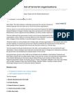 UAE Publishes List of Terrorist Organisations