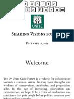 Sharing Visions 2015 (99 Unite Civic Forum)