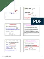 mathematic 1st order differrentation