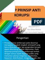 "Presentasi kelompok ""Prinsip Prinsip Anti Korupsi"""