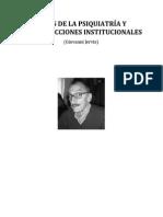 Crisis de La Psiquiatría y Contradicciones Institucionales