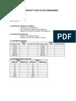 Work Sheet for Soil Testing