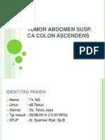 Tumor Abdomen Susp CA Colon