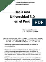 Hacia Una Universidad en El Peru